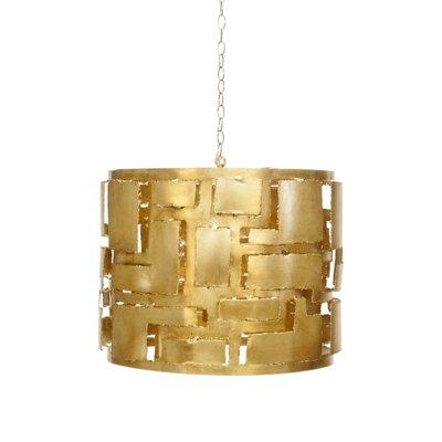 3-Light Drum Pendant Finish: Gold