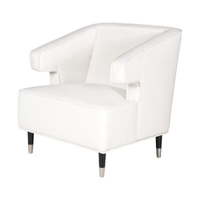 Arm Chair Upholstery: White Linen
