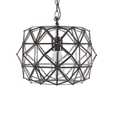 Faceted 1-Light Foyer Pendant