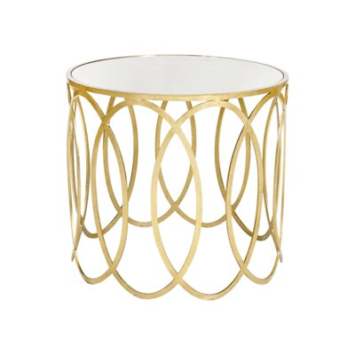 Ovals End Table Finish: Gold