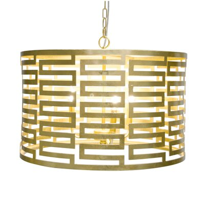 3-Light Drum Pendant Finish: Gold