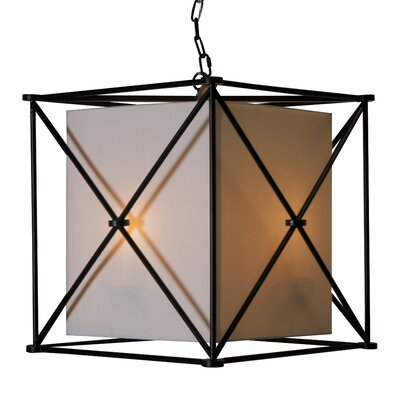 X 3-Light Foyer Pendant Finish: Black