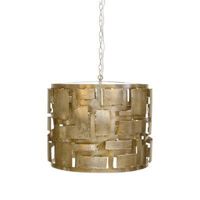 3-Light Drum Pendant Finish: Champagne Silver
