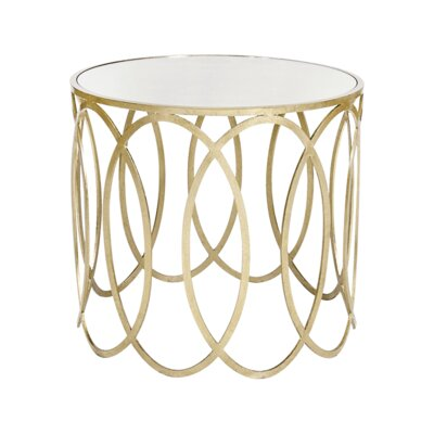 Ovals End Table Color: Silver