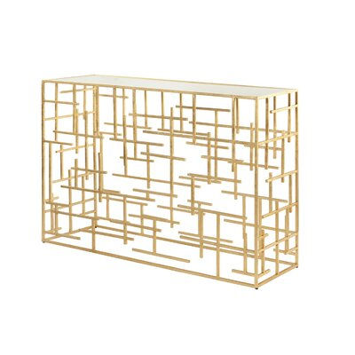 Abstract Console Table Finish: Gold