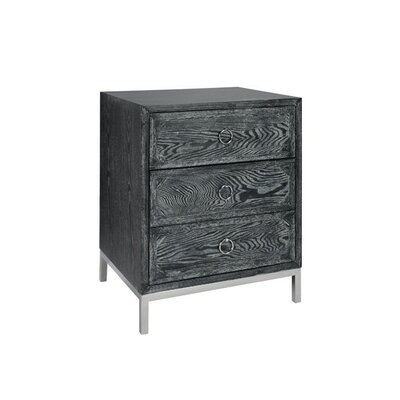 3 Drawer End Table Finish: Nickel