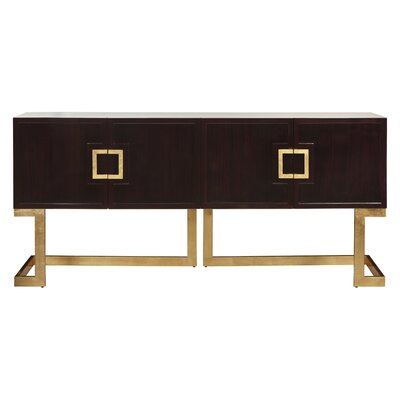 72 TV Stand Color: Rosewood/Gold Leaf