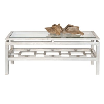 Coffee Table with Magazine Rack Finish: Silver