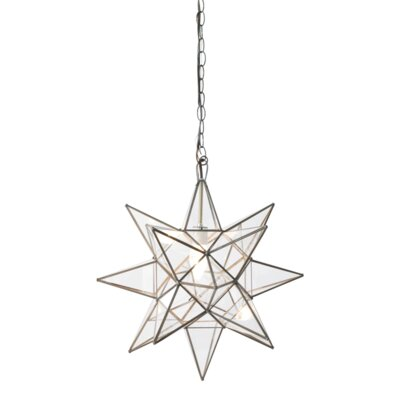 Star 1-Light Foyer Pendant Size: 12 H x 12 W x 12 D