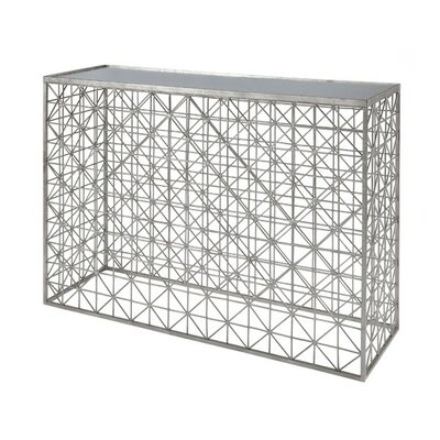 Crosshatch Console Table Finish: Silver