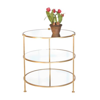 3 Tier End Table Color: Gold Leaf
