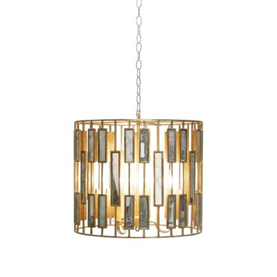 3-Light Drum Pendant Size: 17 H x 20 W x 20 D