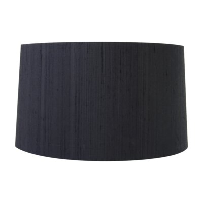 17 Silk Drum Lamp Shade Color: Black