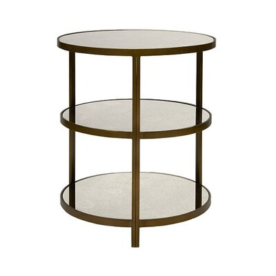 3 Tier End Table Color: Bronzed