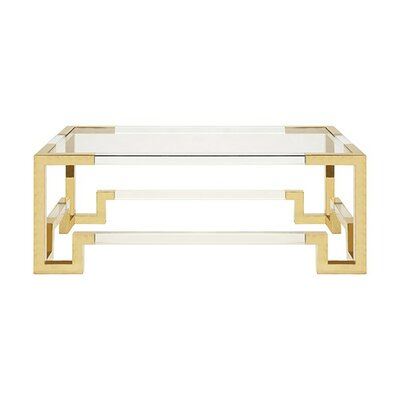 Acrylic Coffee Table Finish: Brass