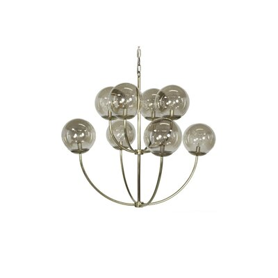 Two-Tier 8-Light Candle-Style Chandelier Finish: Antique Brass