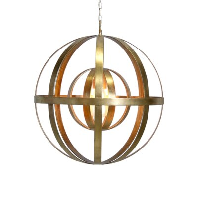 1-Light Globe Pendant Finish: Gold Leaf