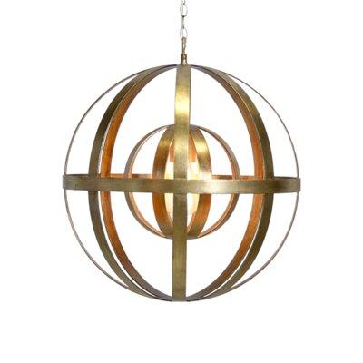 1-Light Globe Pendant Finish: Gold Leaf