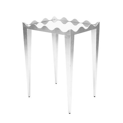 Wave Edge End Table Color: Silver
