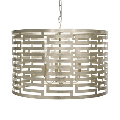 3-Light Drum Pendant Finish: Silver