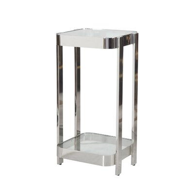 2 Tier End Table Finish: Nickel