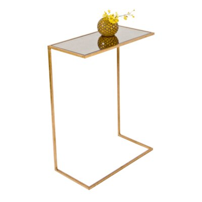 Cigar C Table Color: Gold Leafed