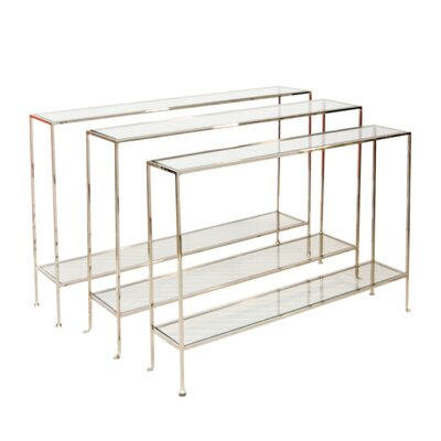 Console Table Finish: Nickel Plated