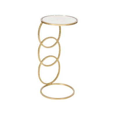 3 Ring Hammered Round Cigar C Table Finish: Gold