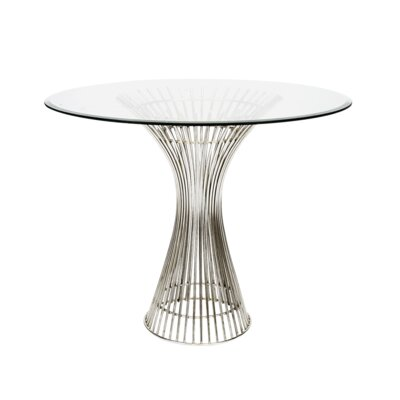 Iron End Table Size: 30 H x 42 W x 42 D