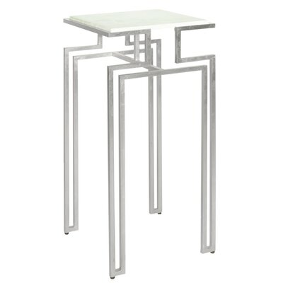 Square Iron End Table Color: Silver