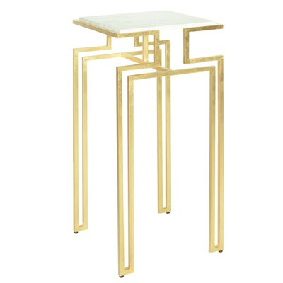 Square Iron End Table Color: Gold