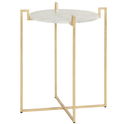 End Table Color: Gold Leaf