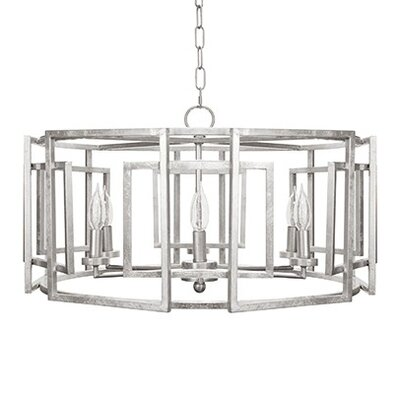 Motif 6-Light Drum Chandelier Finish: Silver Leaf