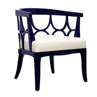 Lacquer Barrel Chair Finish: Navy