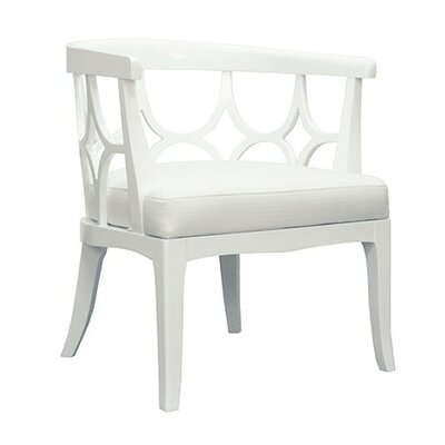 Lacquer Barrel Chair Finish: White