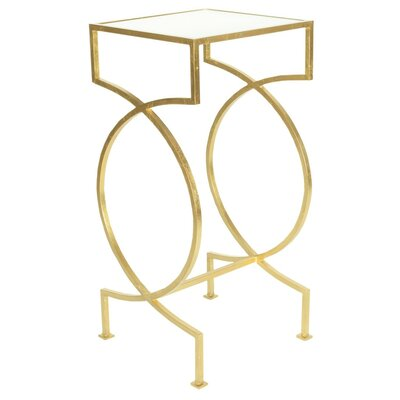 Iron End Table Finish: Gold