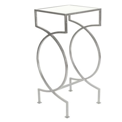 Iron End Table Color: Silver