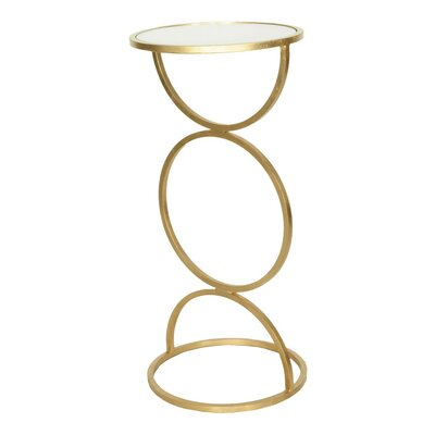 Cigar End Table Finish: Gold