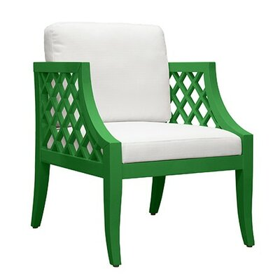 Lattice Armchair Finish: Green Lacquer