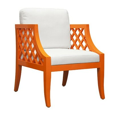 Lattice Armchair Finish: Orange Lacquer