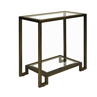 2 Tier End Table Color: Bronze