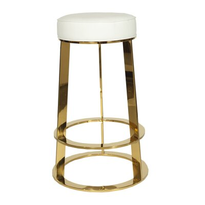 28 Bar Stool Base Color: Brass