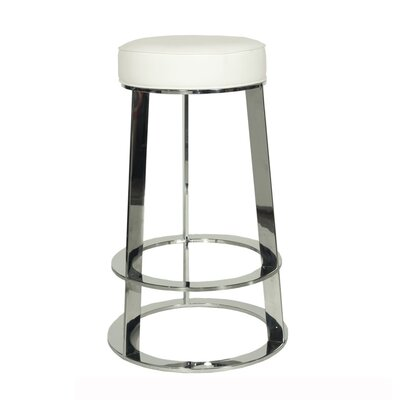 28 Bar Stool Base Color: Nickel