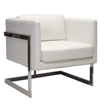 Macallan Bicast Leather Chair Upholstery color: White