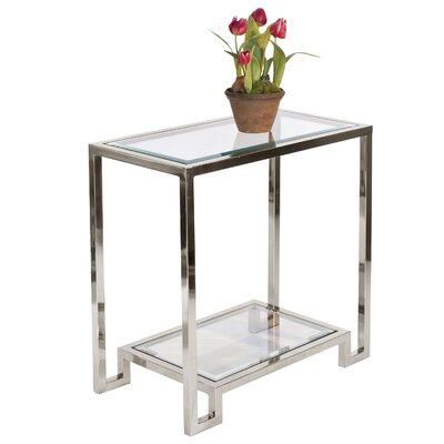 2 Tier End Table Color: Nickel Plated