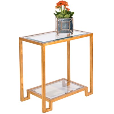 2 Tier End Table Color: Gold Leaf