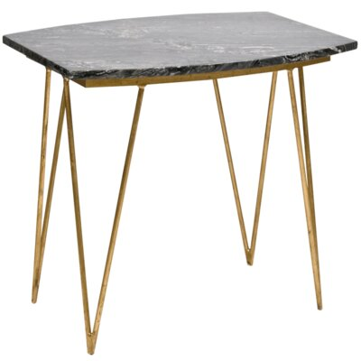 Hairpin End Table Finish: Gold