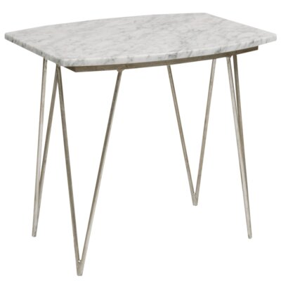 Hairpin End Table Finish: Silver