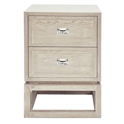 2 Drawer End Table Color: Cerused Oak