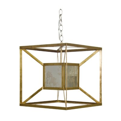 Box 1-Light Foyer Pendant Finish: Gold